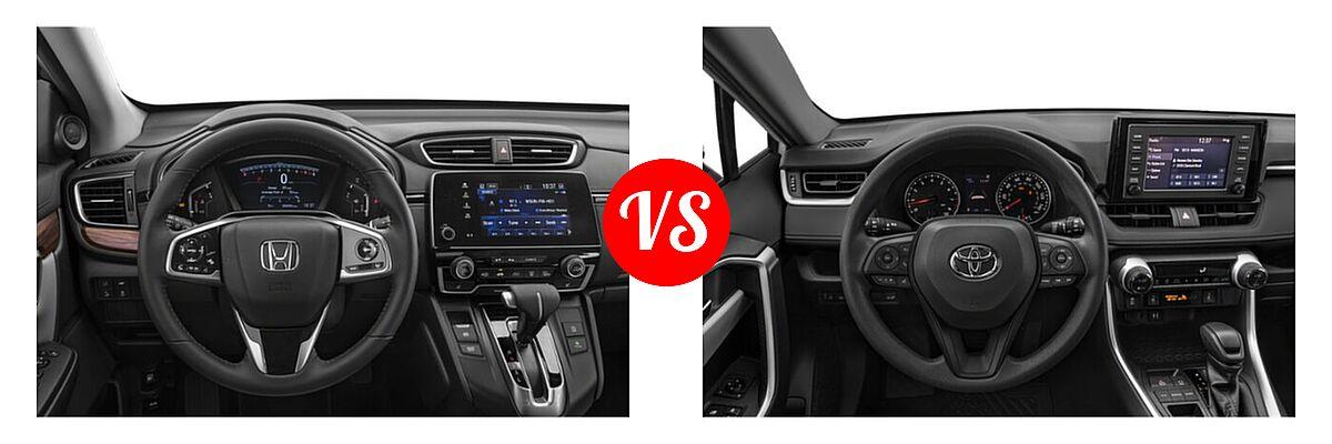 2020 Honda CR-V SUV EX-L vs. 2020 Toyota RAV4 SUV XLE / XLE Premium - Dashboard Comparison