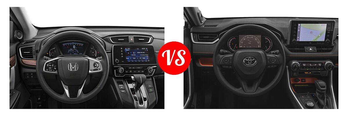 2020 Honda CR-V SUV EX-L vs. 2020 Toyota RAV4 SUV Adventure - Dashboard Comparison