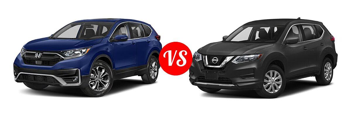 2020 Honda CR-V SUV EX vs. 2020 Nissan Rogue SUV S / SV - Front Left Comparison