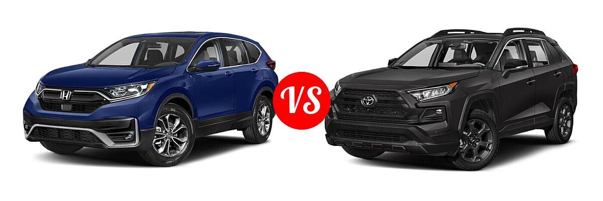 2020 Honda CR-V SUV EX vs. 2020 Toyota RAV4 SUV TRD Off Road - Front Left Comparison