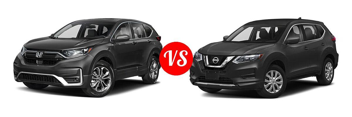 2020 Honda CR-V SUV EX-L vs. 2020 Nissan Rogue SUV S / SV - Front Left Comparison
