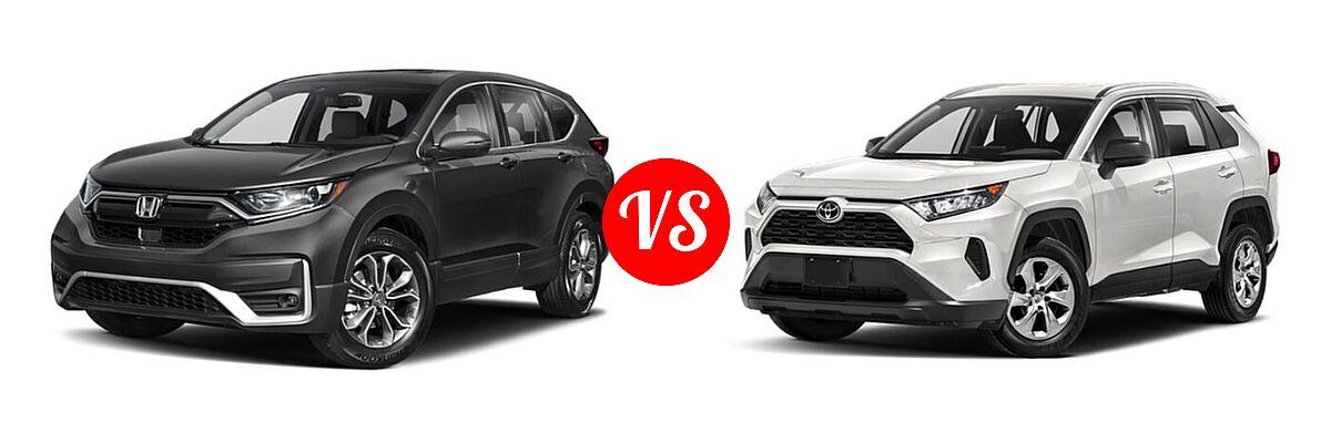 2020 Honda CR-V SUV EX-L vs. 2020 Toyota RAV4 SUV LE - Front Left Comparison