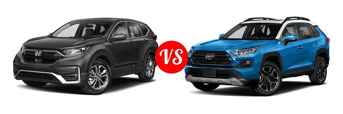2020 Honda CR-V SUV EX-L vs. 2020 Toyota RAV4 SUV Adventure - Front Left Comparison