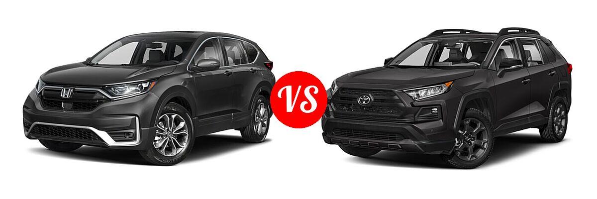2020 Honda CR-V SUV EX-L vs. 2020 Toyota RAV4 SUV TRD Off Road - Front Left Comparison