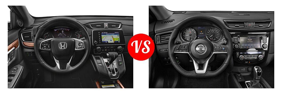 2020 Honda CR-V SUV Touring vs. 2020 Nissan Rogue SUV SL - Dashboard Comparison