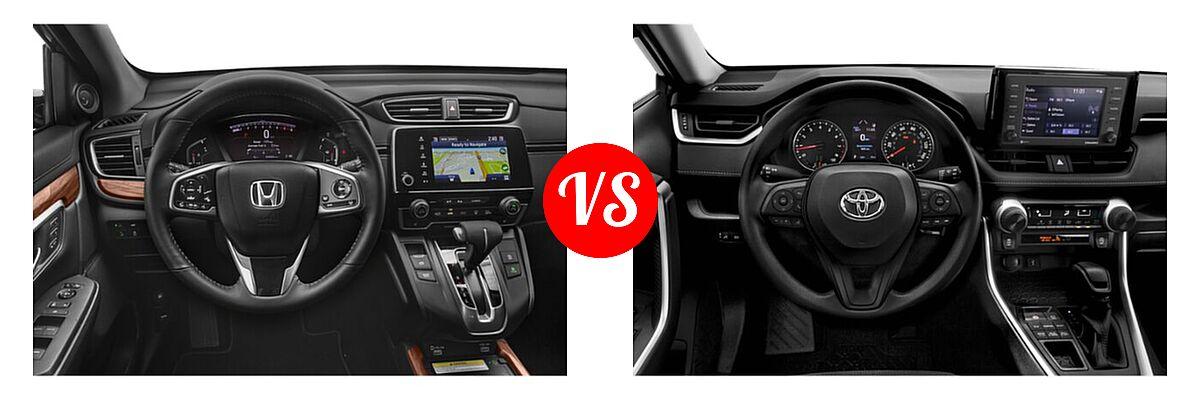2020 Honda CR-V SUV Touring vs. 2020 Toyota RAV4 SUV LE - Dashboard Comparison