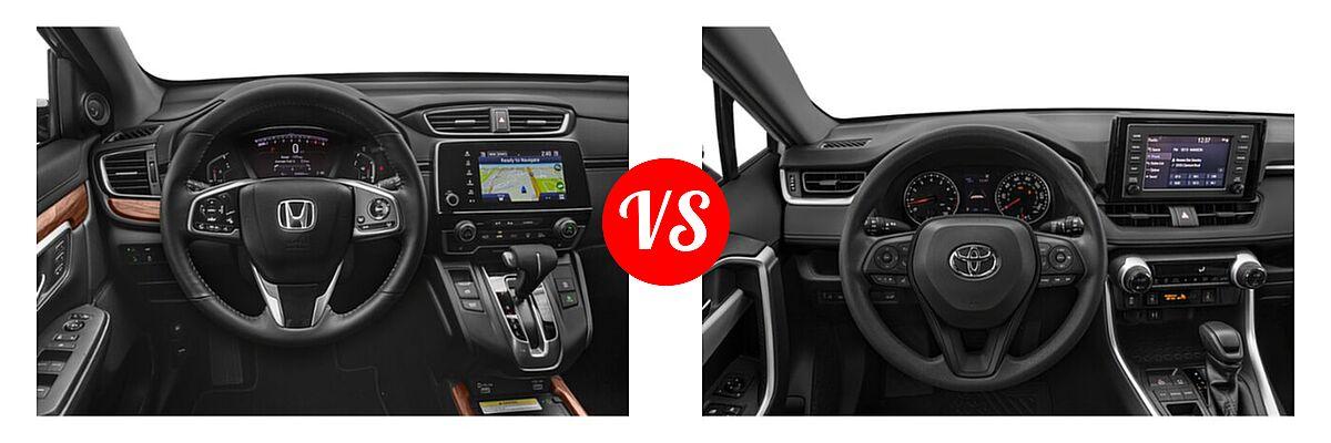 2020 Honda CR-V SUV Touring vs. 2020 Toyota RAV4 SUV XLE / XLE Premium - Dashboard Comparison