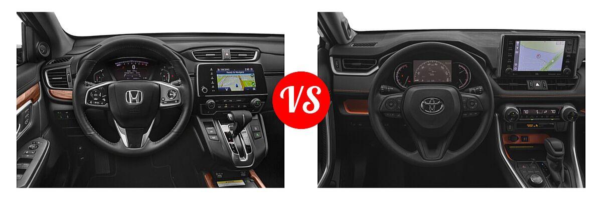 2020 Honda CR-V SUV Touring vs. 2020 Toyota RAV4 SUV Adventure - Dashboard Comparison