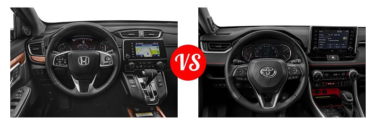 2020 Honda CR-V SUV Touring vs. 2020 Toyota RAV4 SUV TRD Off Road - Dashboard Comparison
