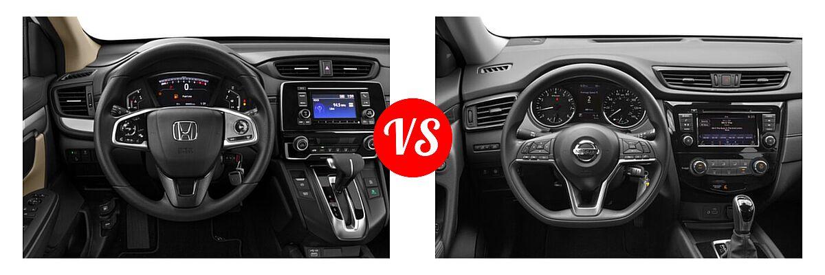 2020 Honda CR-V SUV LX vs. 2020 Nissan Rogue SUV S / SV - Dashboard Comparison