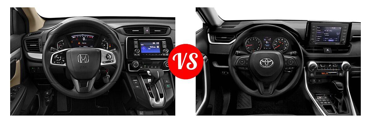 2020 Honda CR-V SUV LX vs. 2020 Toyota RAV4 SUV LE - Dashboard Comparison