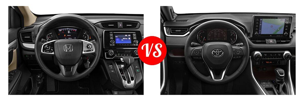 2020 Honda CR-V SUV LX vs. 2020 Toyota RAV4 SUV Limited - Dashboard Comparison