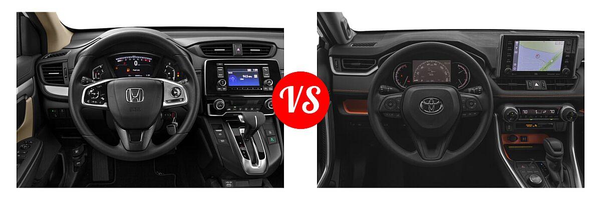2020 Honda CR-V SUV LX vs. 2020 Toyota RAV4 SUV Adventure - Dashboard Comparison