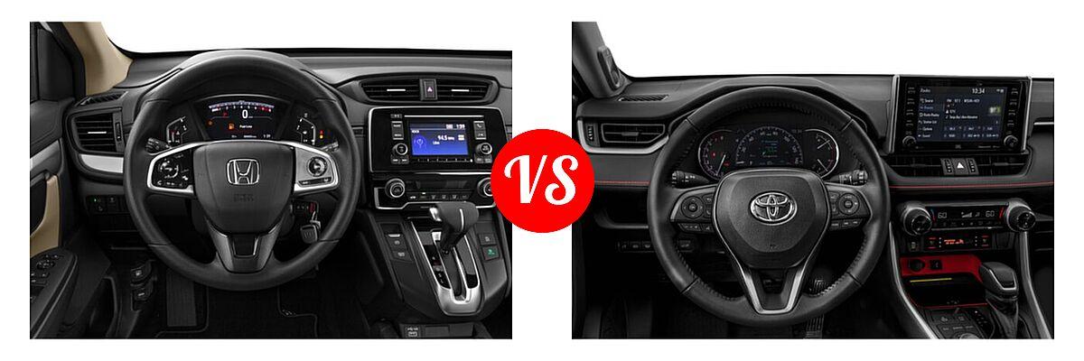 2020 Honda CR-V SUV LX vs. 2020 Toyota RAV4 SUV TRD Off Road - Dashboard Comparison