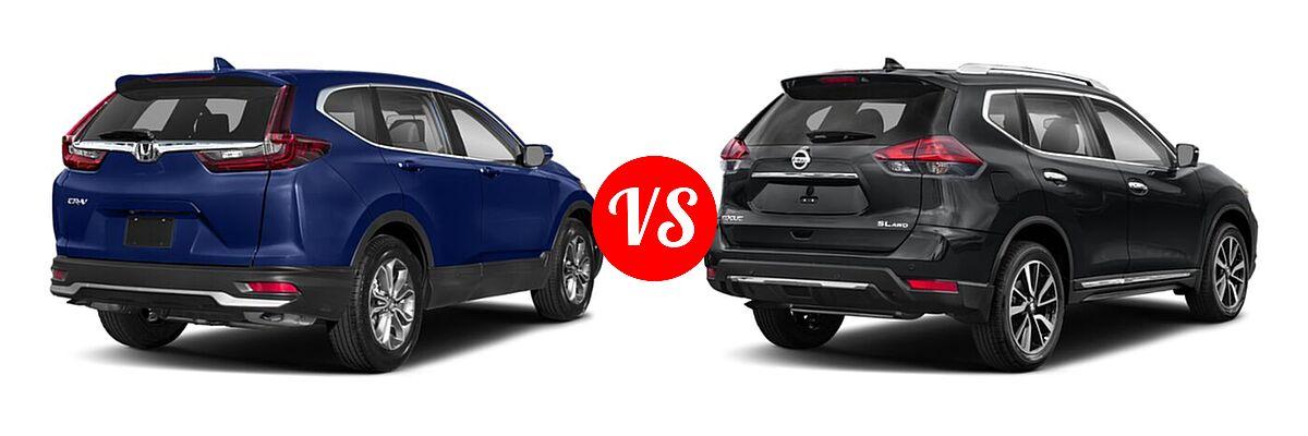 2020 Honda CR-V SUV EX vs. 2020 Nissan Rogue SUV SL - Rear Right Comparison