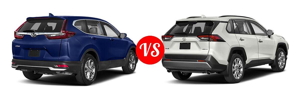 2020 Honda CR-V SUV EX vs. 2020 Toyota RAV4 SUV Limited - Rear Right Comparison