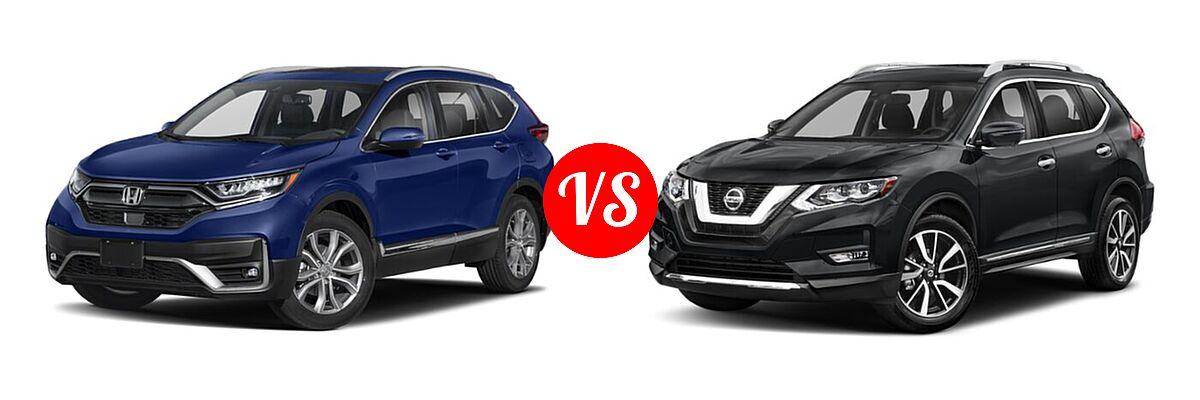 2020 Honda CR-V SUV Touring vs. 2020 Nissan Rogue SUV SL - Front Left Comparison