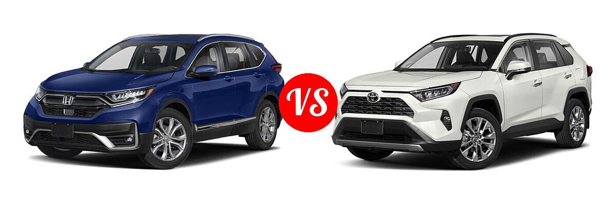 2020 Honda CR-V SUV Touring vs. 2020 Toyota RAV4 SUV Limited - Front Left Comparison