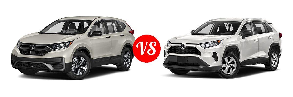 2020 Honda CR-V SUV LX vs. 2020 Toyota RAV4 SUV LE - Front Left Comparison