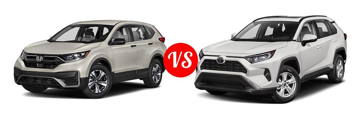 2020 Honda CR-V SUV LX vs. 2020 Toyota RAV4 SUV XLE / XLE Premium - Front Left Comparison