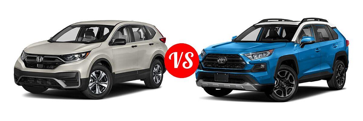 2020 Honda CR-V SUV LX vs. 2020 Toyota RAV4 SUV Adventure - Front Left Comparison
