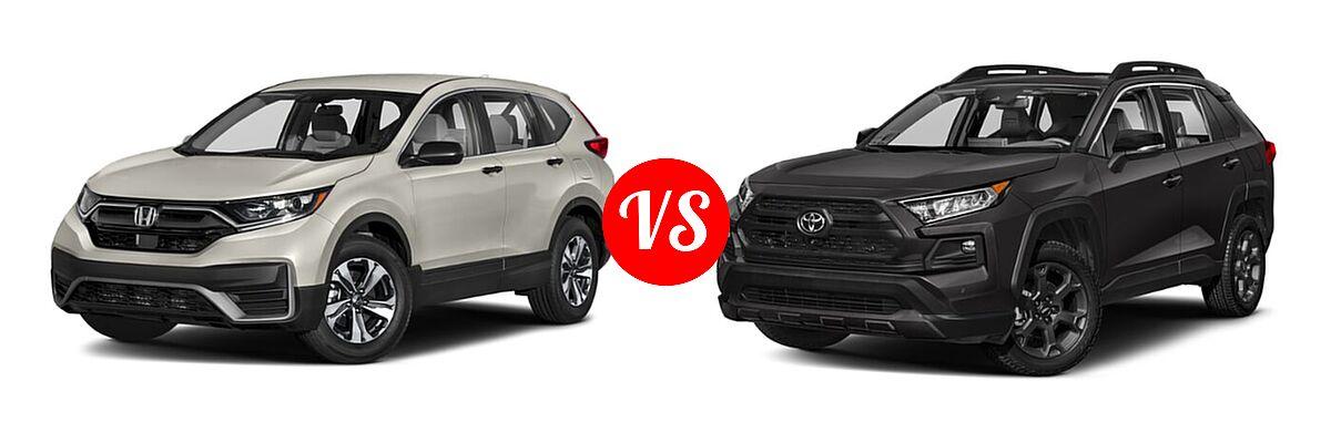 2020 Honda CR-V SUV LX vs. 2020 Toyota RAV4 SUV TRD Off Road - Front Left Comparison