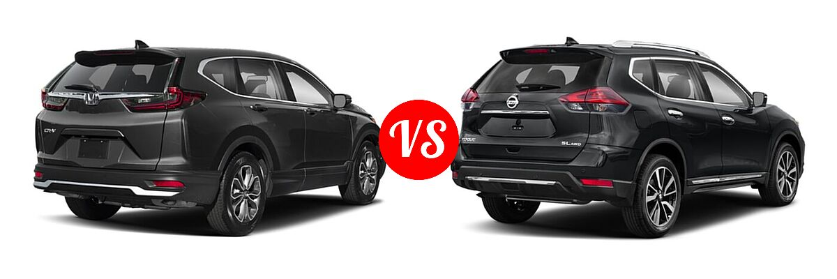 2020 Honda CR-V SUV EX-L vs. 2020 Nissan Rogue SUV SL - Rear Right Comparison