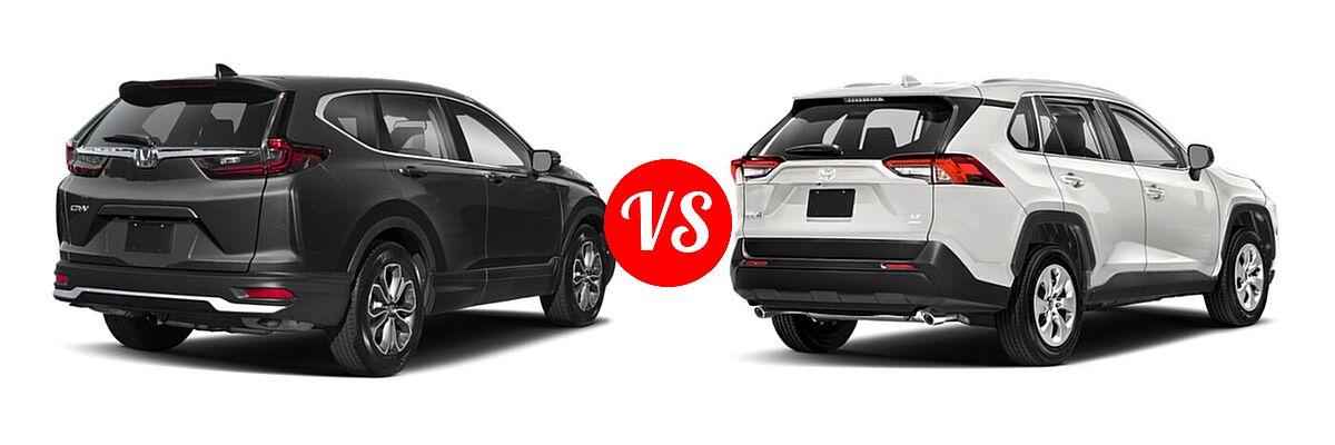 2020 Honda CR-V SUV EX-L vs. 2020 Toyota RAV4 SUV LE - Rear Right Comparison