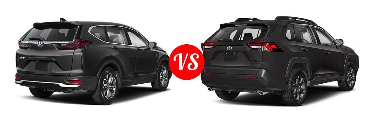 2020 Honda CR-V SUV EX-L vs. 2020 Toyota RAV4 SUV TRD Off Road - Rear Right Comparison