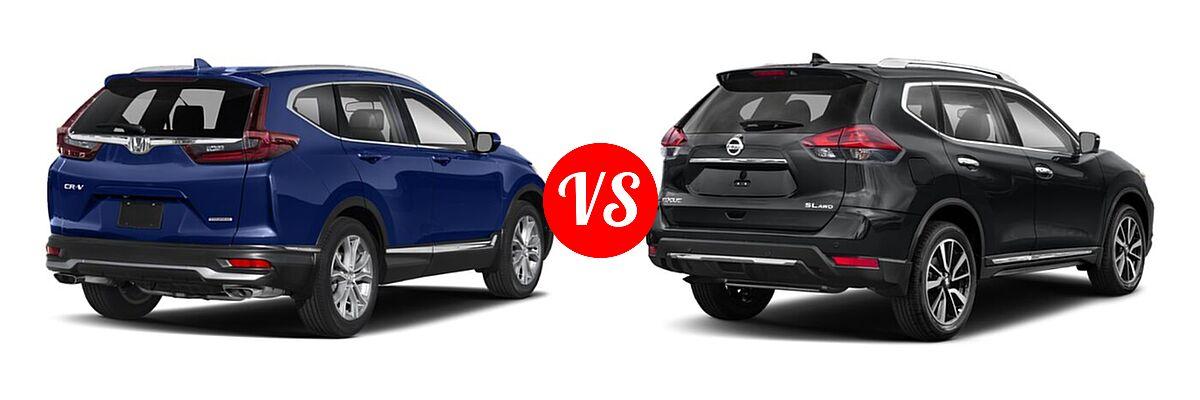2020 Honda CR-V SUV Touring vs. 2020 Nissan Rogue SUV SL - Rear Right Comparison