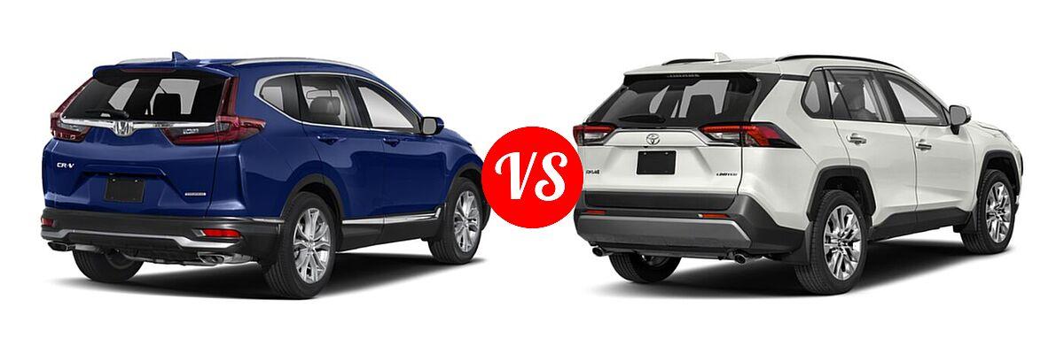 2020 Honda CR-V SUV Touring vs. 2020 Toyota RAV4 SUV Limited - Rear Right Comparison