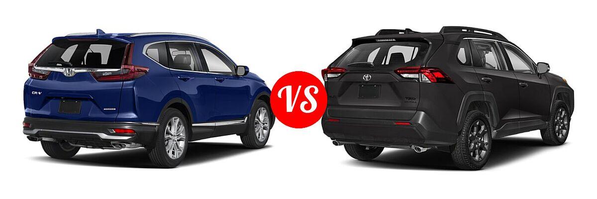 2020 Honda CR-V SUV Touring vs. 2020 Toyota RAV4 SUV TRD Off Road - Rear Right Comparison