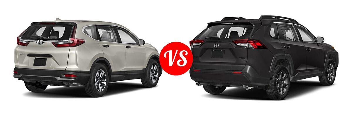 2020 Honda CR-V SUV LX vs. 2020 Toyota RAV4 SUV TRD Off Road - Rear Right Comparison
