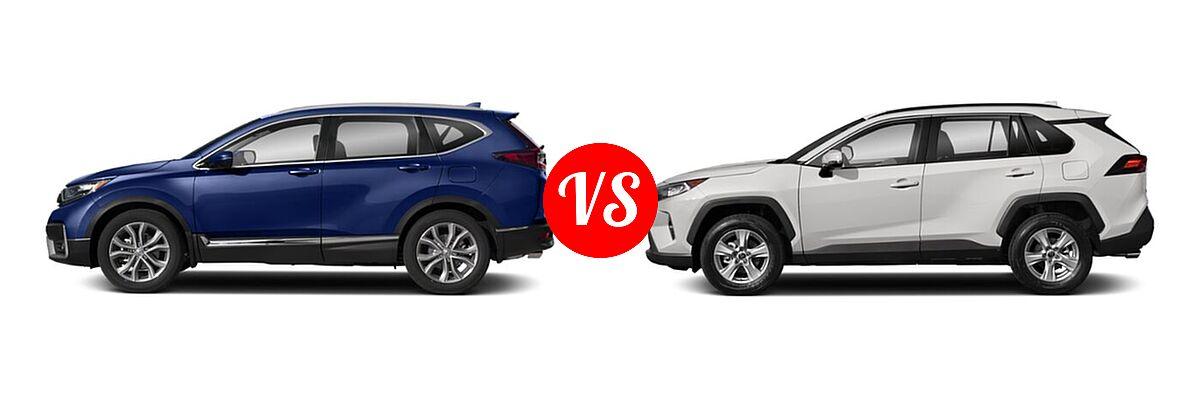 2020 Honda CR-V SUV Touring vs. 2020 Toyota RAV4 SUV XLE / XLE Premium - Side Comparison