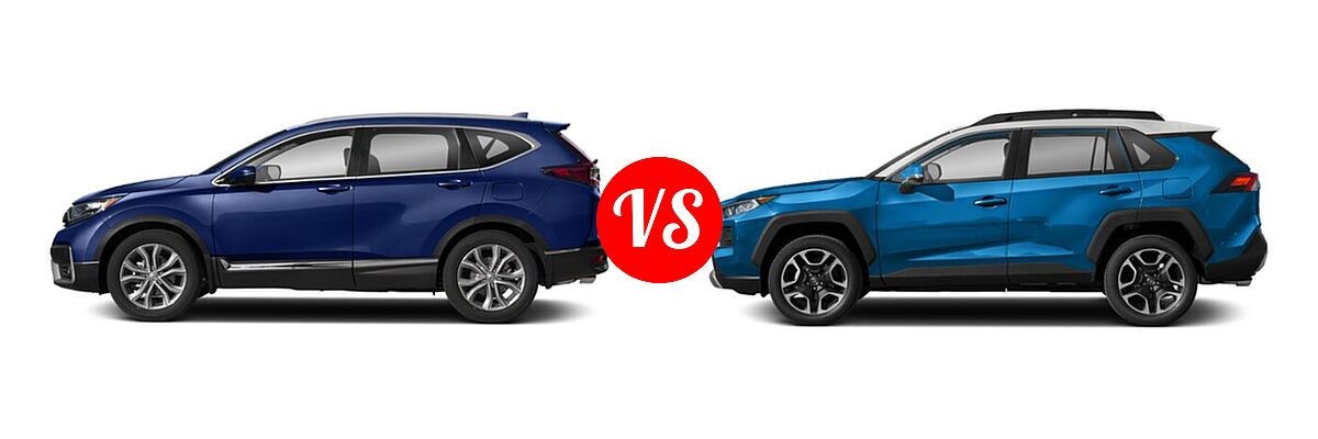 2020 Honda CR-V SUV Touring vs. 2020 Toyota RAV4 SUV Adventure - Side Comparison