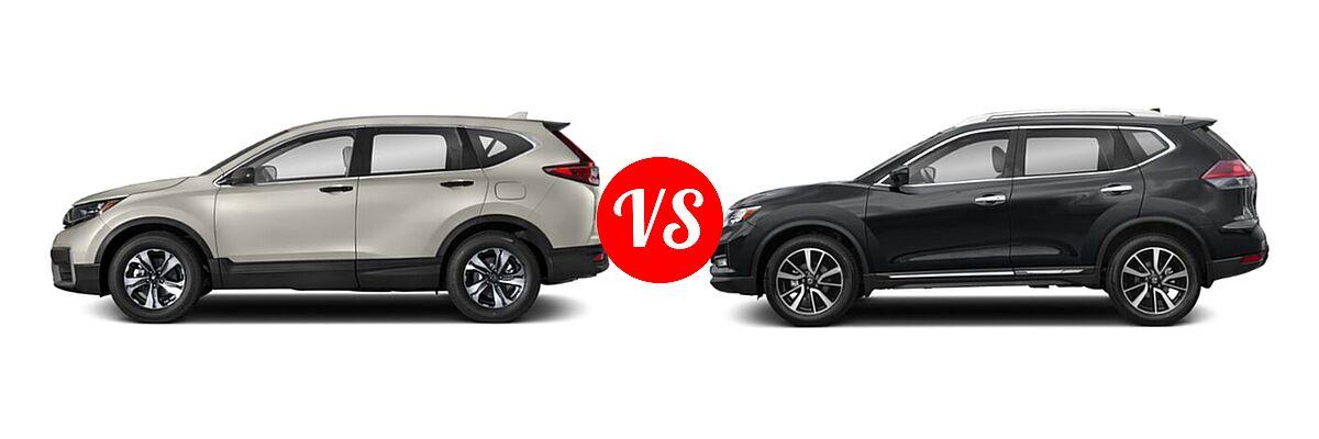 2020 Honda CR-V SUV LX vs. 2020 Nissan Rogue SUV SL - Side Comparison