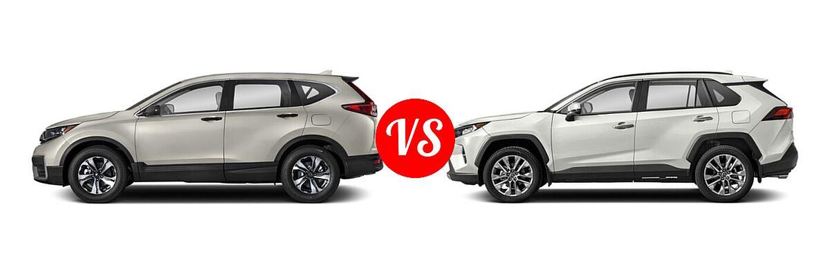 2020 Honda CR-V SUV LX vs. 2020 Toyota RAV4 SUV Limited - Side Comparison