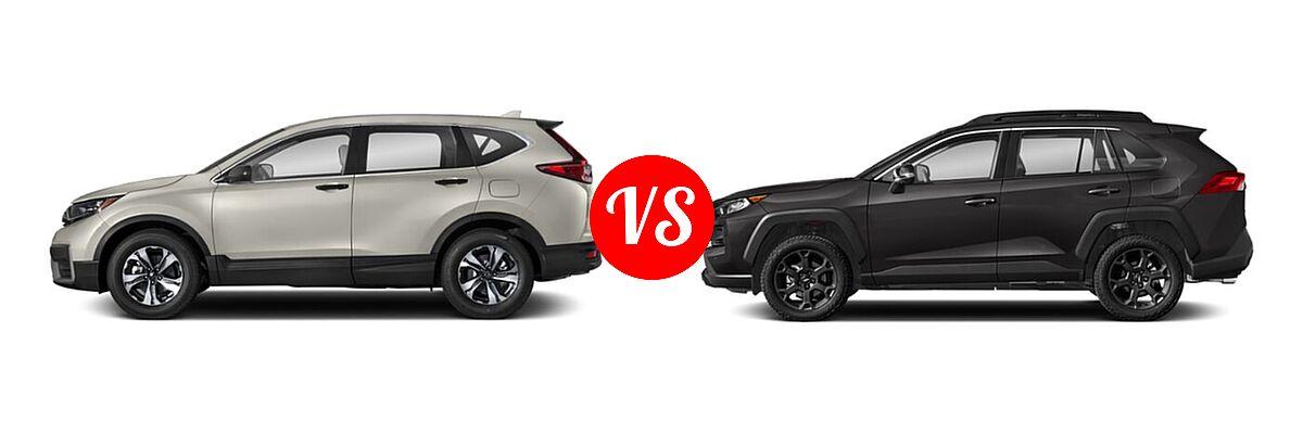 2020 Honda CR-V SUV LX vs. 2020 Toyota RAV4 SUV TRD Off Road - Side Comparison