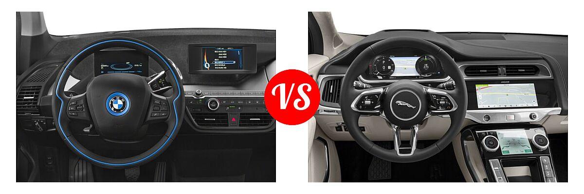 2020 BMW i3 Hatchback PHEV 120 Ah / 120 Ah w/Range Extender / s vs. 2019 Jaguar I-PACE SUV Electric First Edition / HSE / S / SE - Dashboard Comparison