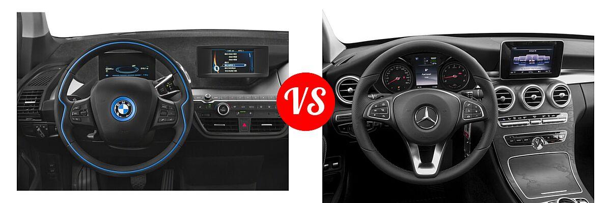 2020 BMW i3 Hatchback PHEV 120 Ah / 120 Ah w/Range Extender / s vs. 2018 Mercedes-Benz C-Class Sedan Hybrid C 350e - Dashboard Comparison