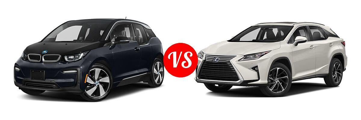 2020 BMW i3 Hatchback PHEV 120 Ah / 120 Ah w/Range Extender / s vs. 2018 Lexus RX 450h SUV RX 450h - Front Left Comparison