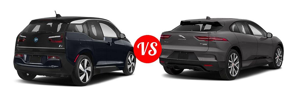 2020 BMW i3 Hatchback PHEV 120 Ah / 120 Ah w/Range Extender / s vs. 2019 Jaguar I-PACE SUV Electric First Edition / HSE / S / SE - Rear Right Comparison