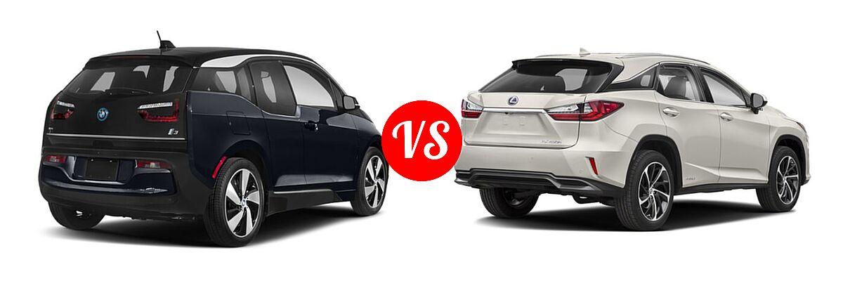 2020 BMW i3 Hatchback PHEV 120 Ah / 120 Ah w/Range Extender / s vs. 2018 Lexus RX 450h SUV RX 450h - Rear Right Comparison