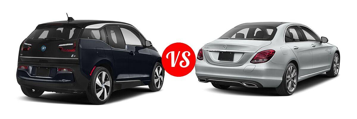 2020 BMW i3 Hatchback PHEV 120 Ah / 120 Ah w/Range Extender / s vs. 2018 Mercedes-Benz C-Class Sedan Hybrid C 350e - Rear Right Comparison