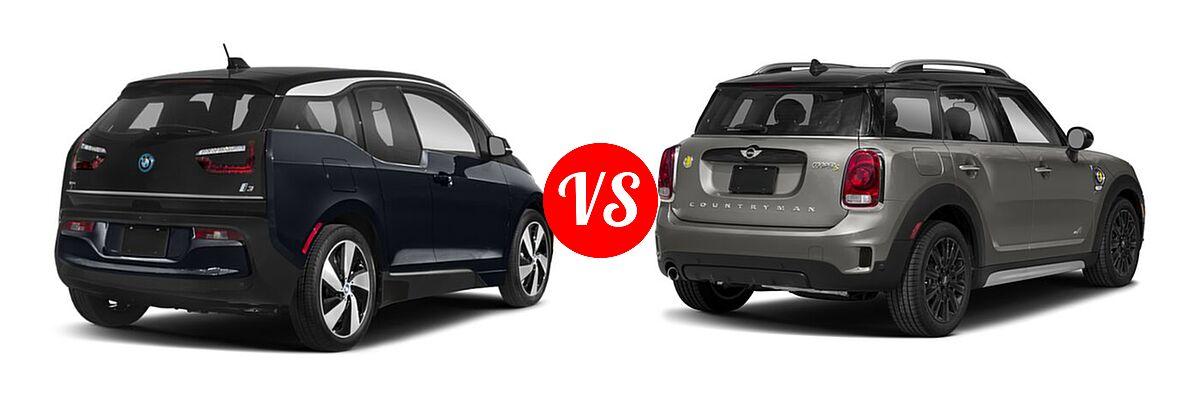 2020 BMW i3 Hatchback PHEV 120 Ah / 120 Ah w/Range Extender / s vs. 2018 MINI Countryman Wagon Hybrid Cooper S E - Rear Right Comparison