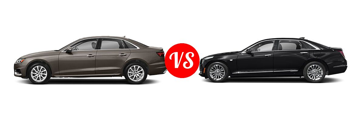 2020 Audi A4 Sedan Premium / Premium Plus / Prestige vs. 2017 Cadillac CT6 Sedan Hybrid PLUG-IN RWD - Side Comparison