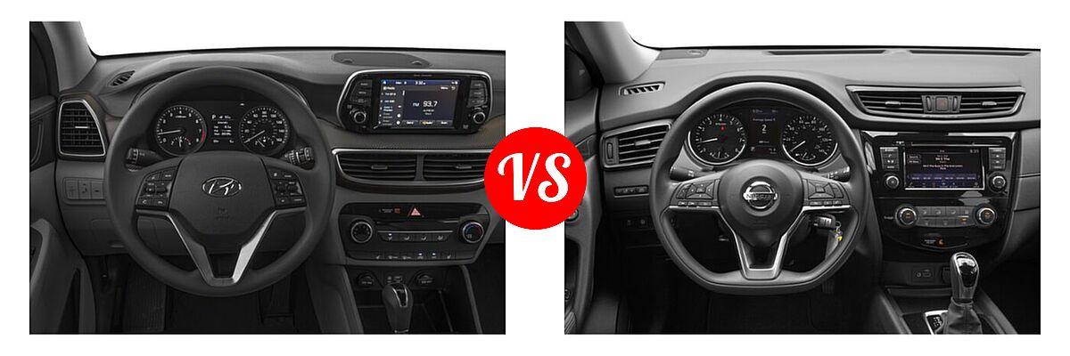 2020 Hyundai Tucson SUV SE / Value vs. 2020 Nissan Rogue SUV S / SV - Dashboard Comparison