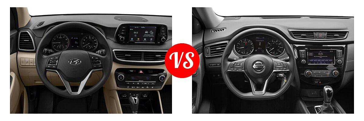 2020 Hyundai Tucson SUV Sport vs. 2020 Nissan Rogue SUV S / SV - Dashboard Comparison