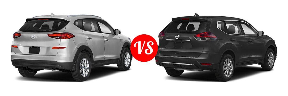 2020 Hyundai Tucson SUV SE / Value vs. 2020 Nissan Rogue SUV S / SV - Rear Right Comparison