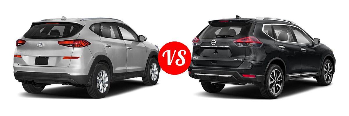 2020 Hyundai Tucson SUV SE / Value vs. 2020 Nissan Rogue SUV SL - Rear Right Comparison